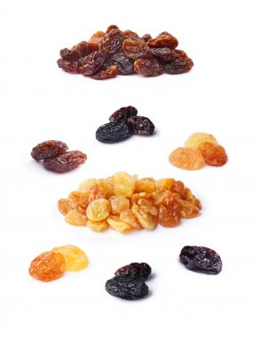 Variety of raisins set