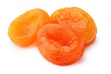 Dried apricots (kuraga) isolated