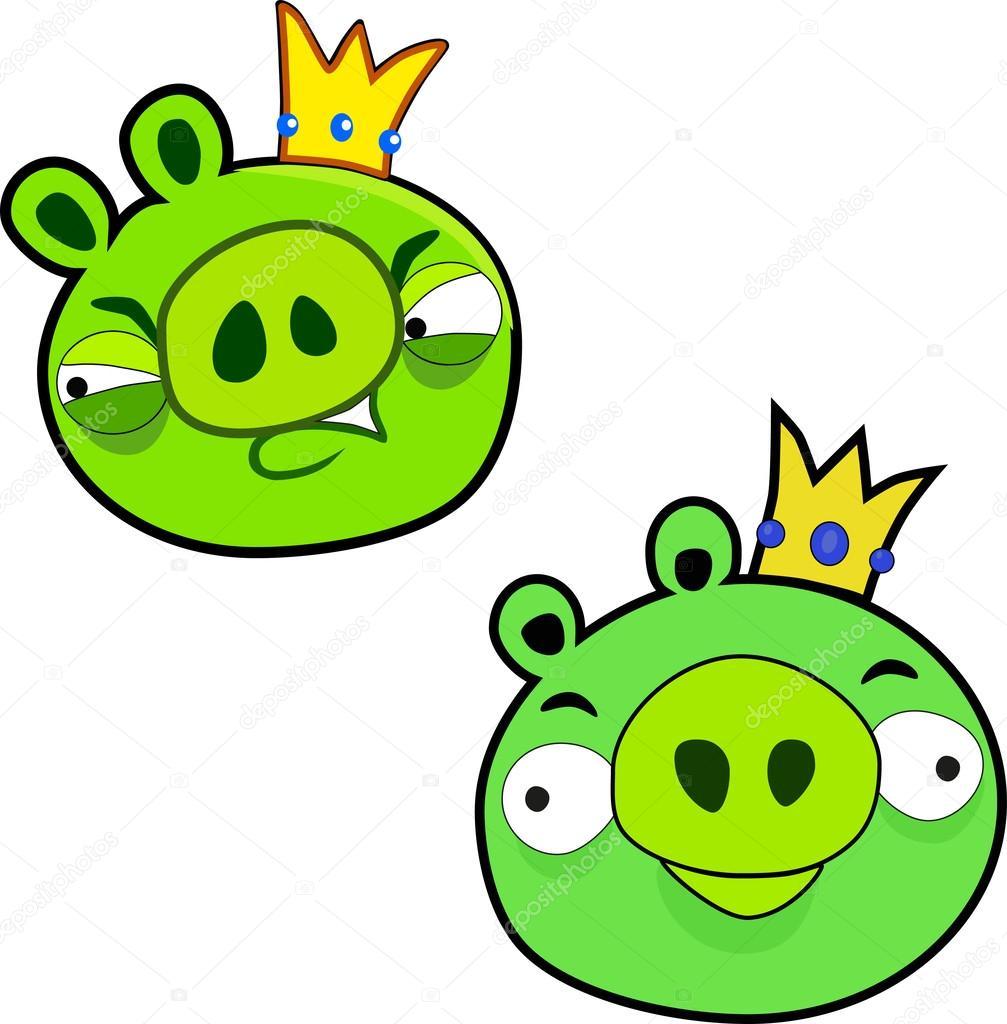 the vector green pigs — stock vector © pokimon666 #58794495
