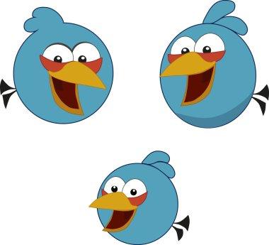 Angry birds. The blue birds