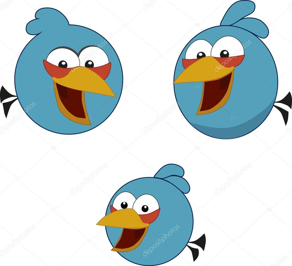 Iictures Blue Angry Bird Angry Birds The Blue Birds Stock Vector C Pokimon666 58892901