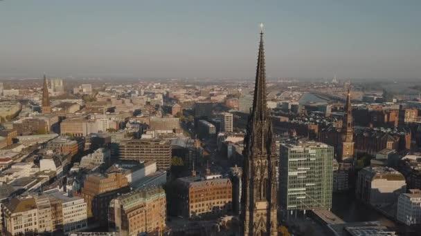 Luftaufnahme von Hamburg am 11. Oktober 2020