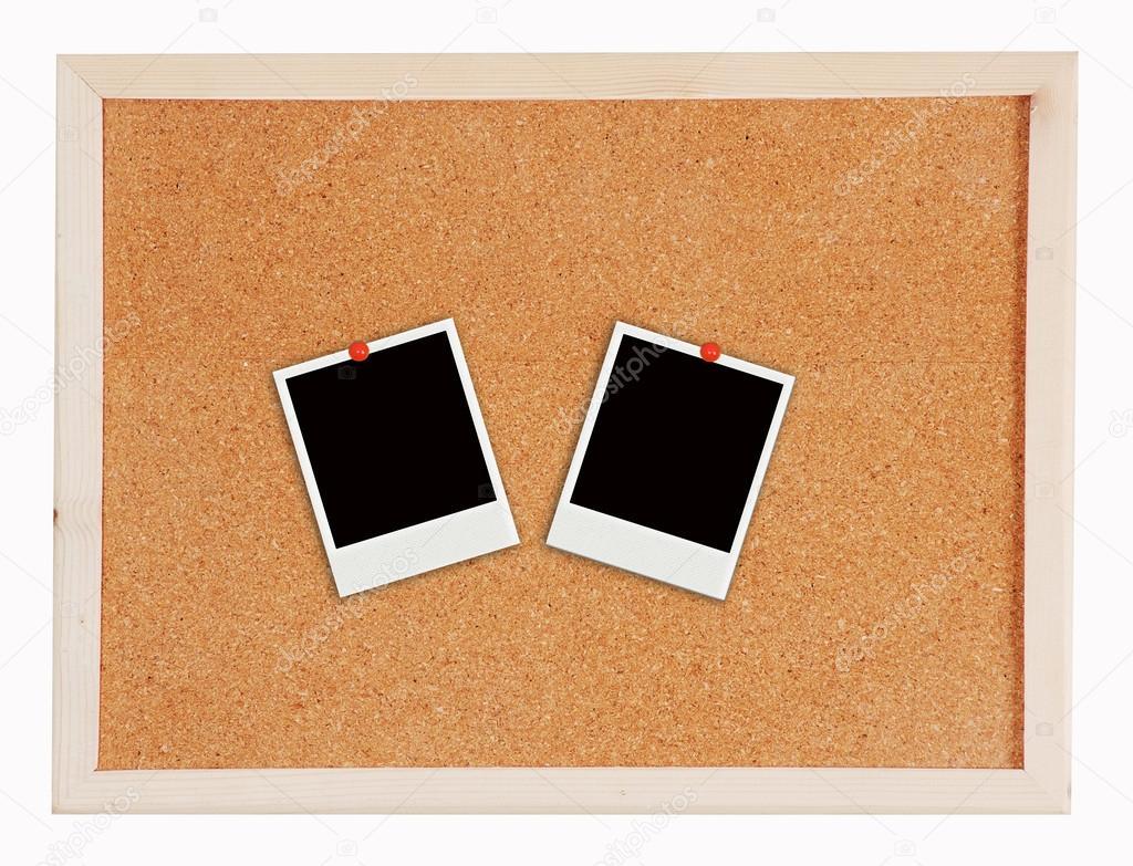 zwei Fotorahmen auf Kork-board — Stockfoto © somchaip #54191951