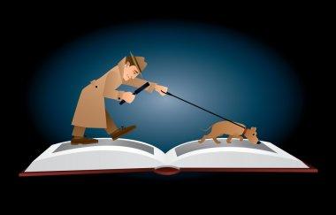 open detective book