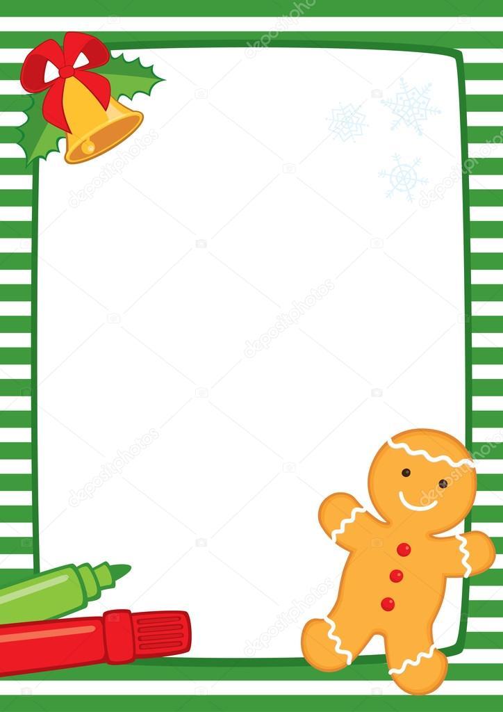 Weihnachten-Frame-Cookie A3-Streifen — Stockvektor © Spoorloos #90374648