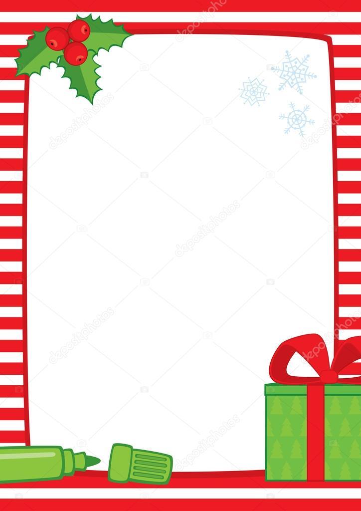 Rayas de Navidad marco marcador regalo A3 — Archivo Imágenes ...