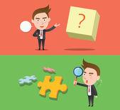 Fotografia Illustrazione divertente personaggio piatto serie Business