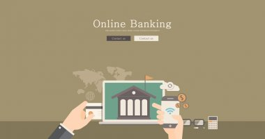 Modern and classic design for online banking concept illustration