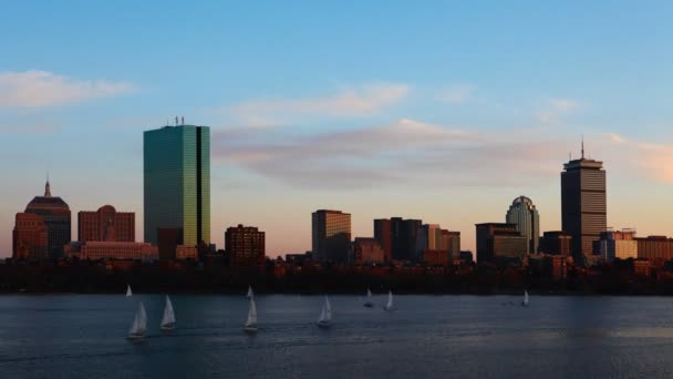 TimeLapse Boston nap éjszaka