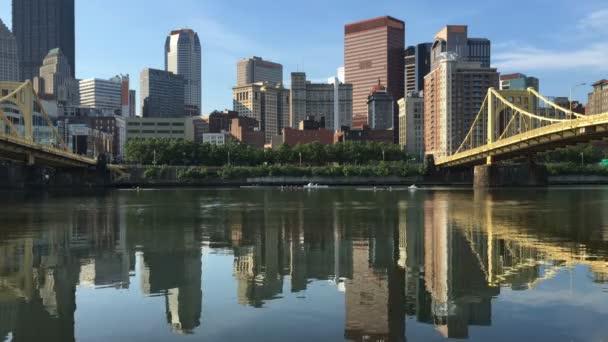 Panorama Pittsburgh zobrazit mezi dvěma mosty