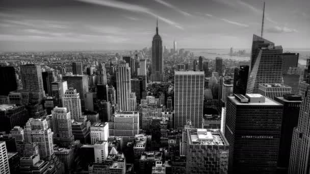 4 k Ultrahd A krásné timelapse soumraku v srdci Manhattanu v černé a bílé