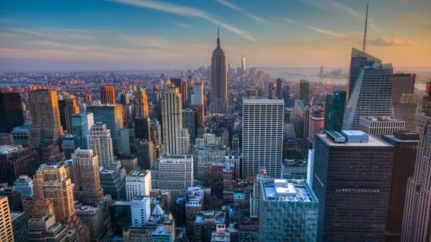 4 k Ultrahd A krásné timelapse soumraku v srdci Manhattanu