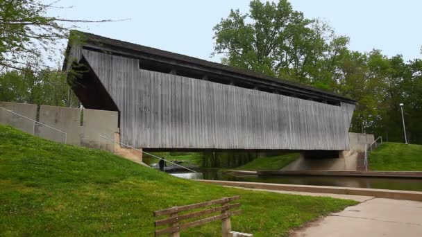 New Brownsville Covered Bridge in Indiana, United States