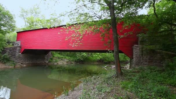 Ramp Creek Covered Bridge in Indiana, Spojené státy