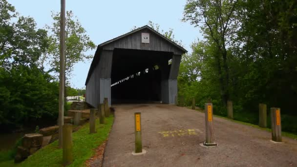 View of Dietz Covered Bridge in Ohio, United States