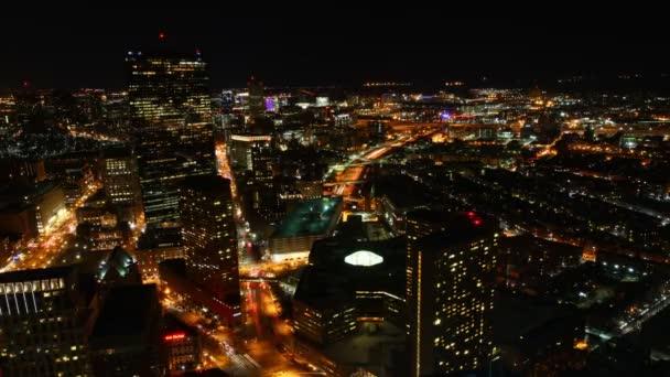 Un timelapse sullo skyline di Boston alla notte