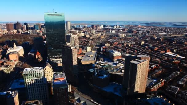Timelapse pohled z Bostonu za soumraku