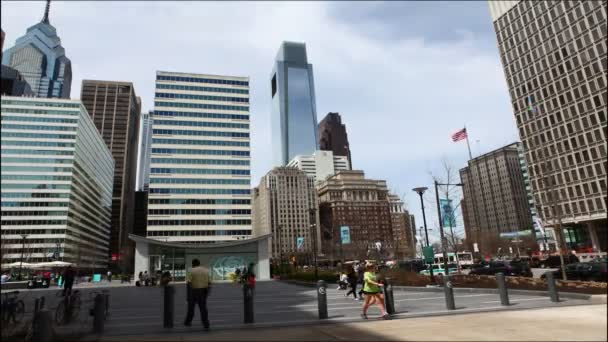 Philadelphia (USA) - 20. April 2015: Street View außerhalb der City Hall in Philadelphia