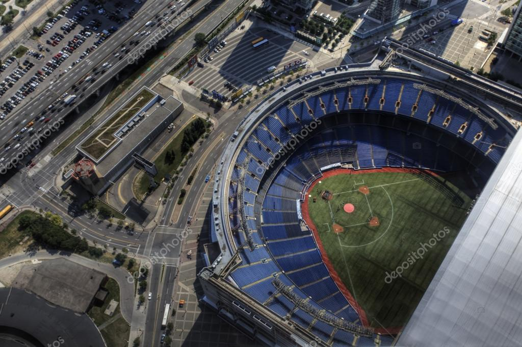 Aerial view of the Rogers Center in Toronto, Canada