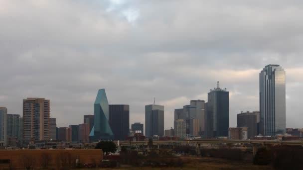 Il crepuscolo timelapse sullo skyline di Dallas