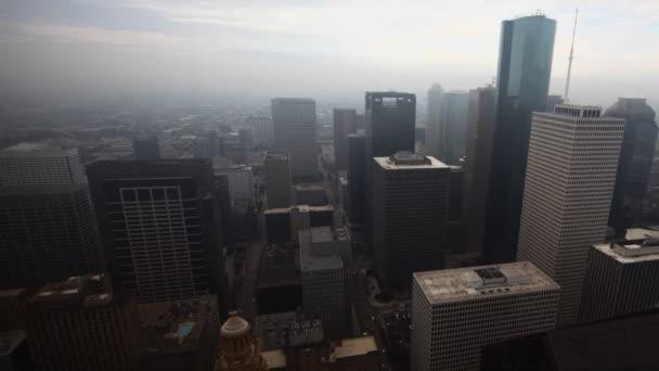 Aerial timelapse of the Houston skyline