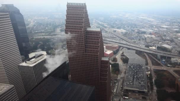 Aerial timelapse of the Houston city center