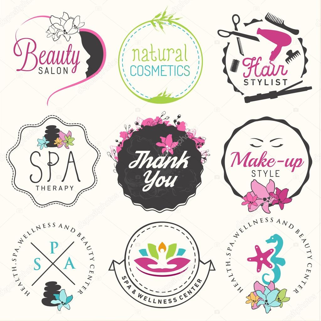 Beauty Salon Spa And Wellness Design Elements In Vintage Style Stock Vector 65673765