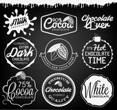 Fotografie Chocolate Design Elements, Labels and Badges in Vintage Style