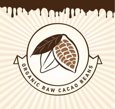 Vintage Cacao Bean Design Element
