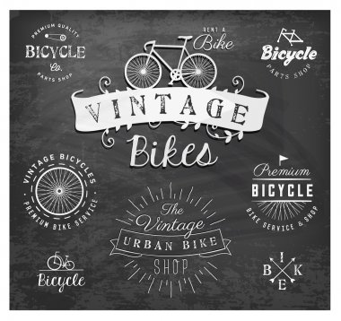 Bicycle Badges and Labels in Vintage Style