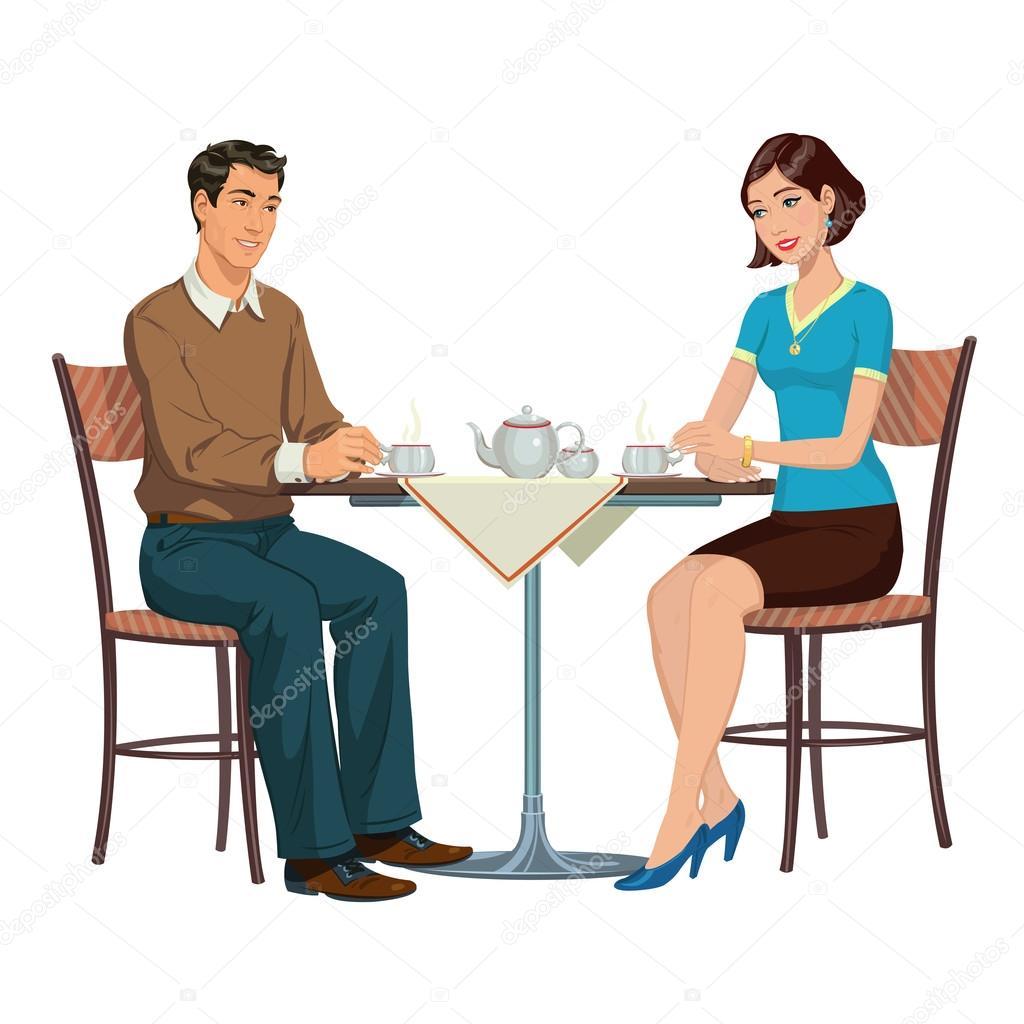 Под юбкой сидя за столом