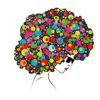 colorful hair - Illustration