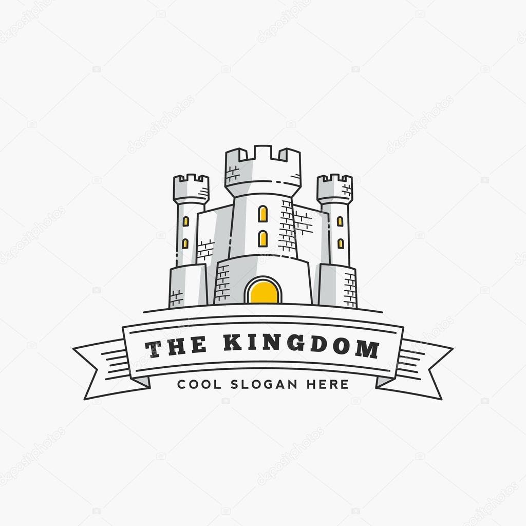 Abstract Vector Königreich Bezeichnung, Zeichen oder Logo-Vorlage ...