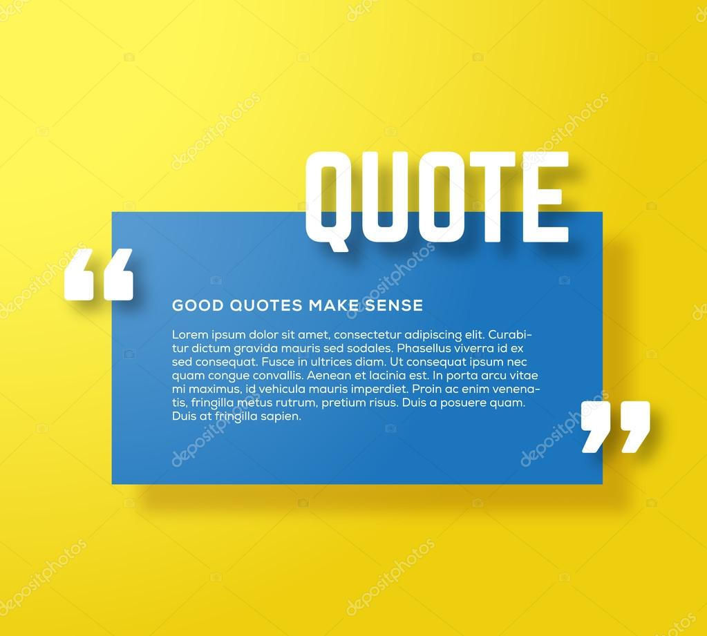 rectangle motivation quote template vector yellow background with