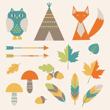 Set of native american symbols