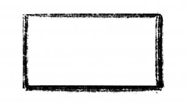 Scratchy malované graffiti rám, stop motion animace izolované na bílém pozadí