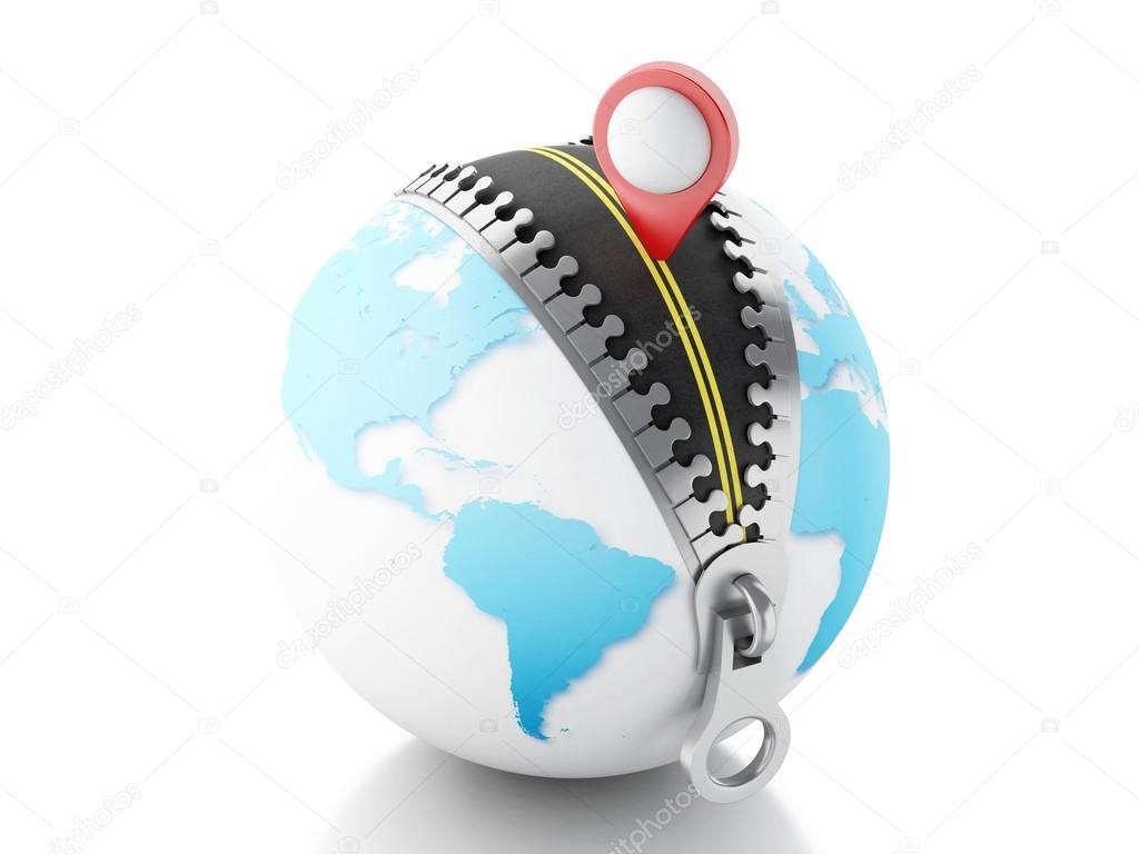 3d globe with zipper open and a map pointer stock photo 3d globe with zipper open and a map pointer stock photo gumiabroncs Image collections