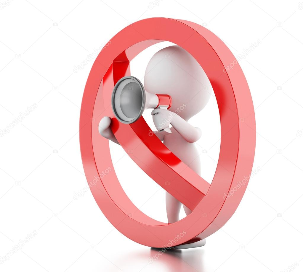 Resultado de imagem para megafone proibido