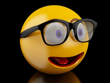 3d Emoji icons with facial expressions.