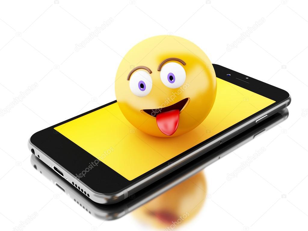 depositphotos 124109838 stock photo 3d smartphone with emoji icons