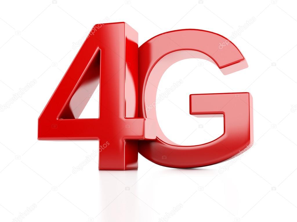 4g-Symbol. drahtlose Kommunikation-Technologie-Konzept — Stockfoto ...