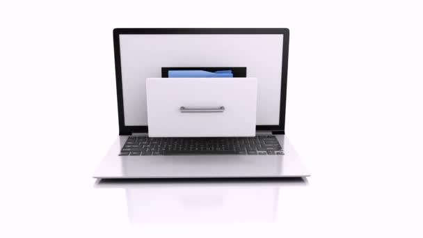 Laptop és fájlokat. 3D animáció