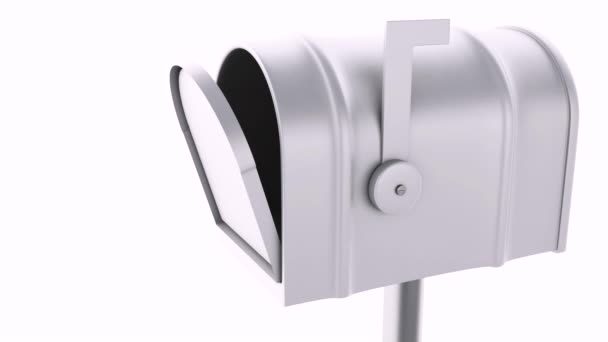 Mail box with at sign. email concept