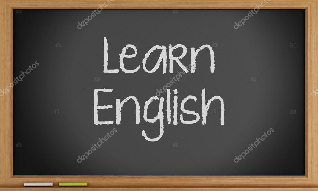 La De En Pizarra Inglés — Escrito Ingles Foto VerdeCursos 7fb6yg