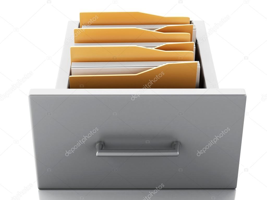 gabinete de archivo 3D. Concepto de búsqueda — Foto de stock ...
