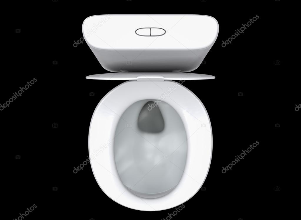3D rendering toilet seat on top view isolated on black background    Photo  by iceindymusic. 3D rendering toilet seat on top view isolated on black background