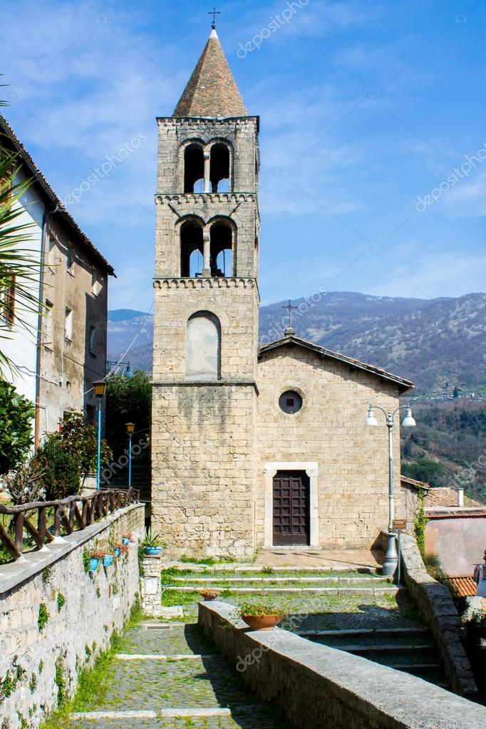 Church of St. Peter, an ancient building in subiaco, Italy