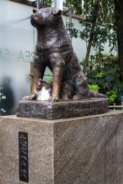 Statue of Hachiko in Tokyo, a symbol of loyalty