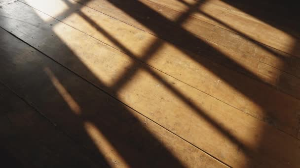 timelapse of sunshine through windows with shadows on wooden floor old
