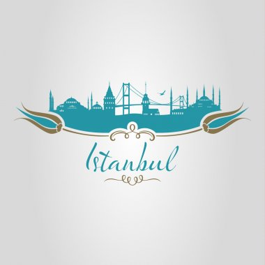 istanbul logo, icon and symbol vector illustration